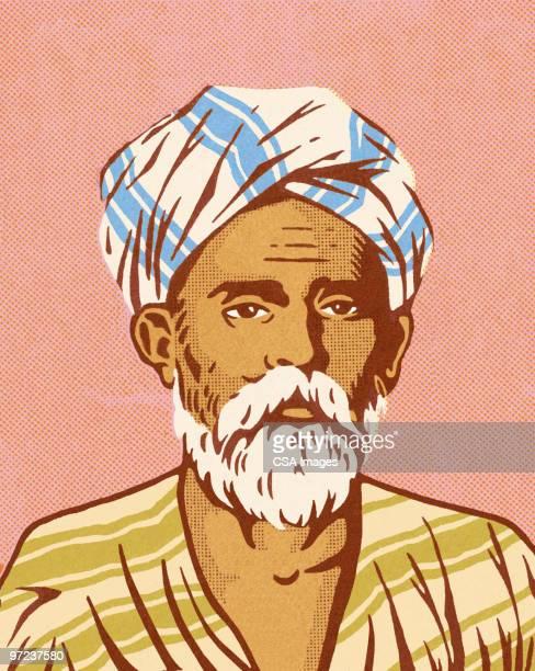 ilustraciones, imágenes clip art, dibujos animados e iconos de stock de middle eastern man - un solo hombre