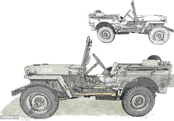 military 4x4 - 4x4 stock illustrations, clip art, cartoons, & icons