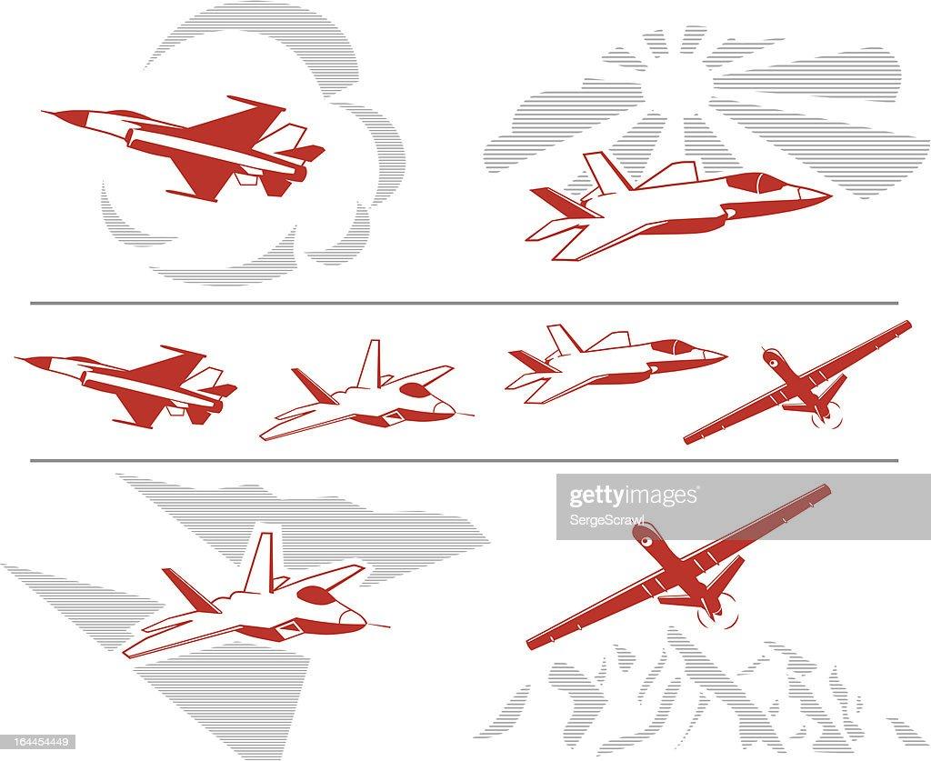 US Military Aircraft Set
