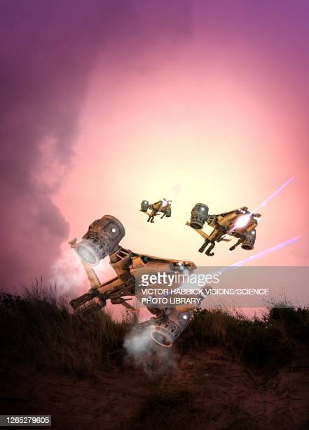 military drones, illustration - army stock illustrations