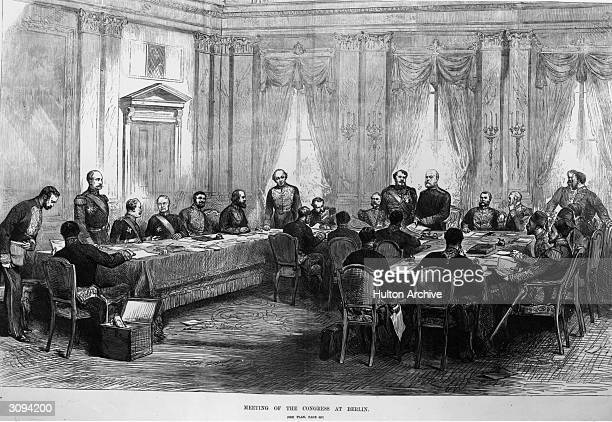 Military figures around a U-shaped table at the Berlin