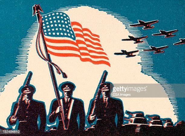 u.s. military forces - parade stock illustrations