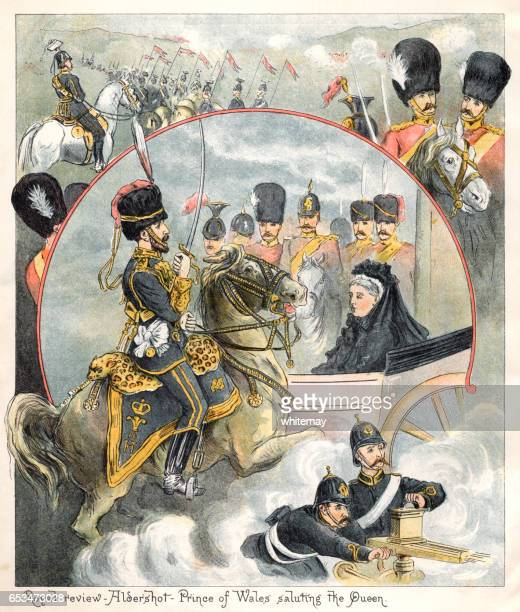 Military review at Aldershot with Queen Victoria