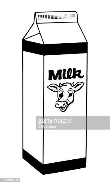 milk carton - 丑年点のイラスト素材/クリップアート素材/マンガ素材/アイコン素材