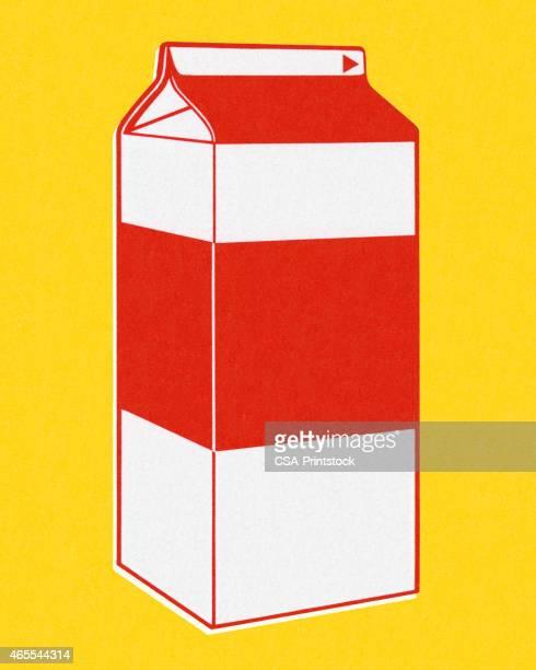 Milk Carton on a Yellow Background