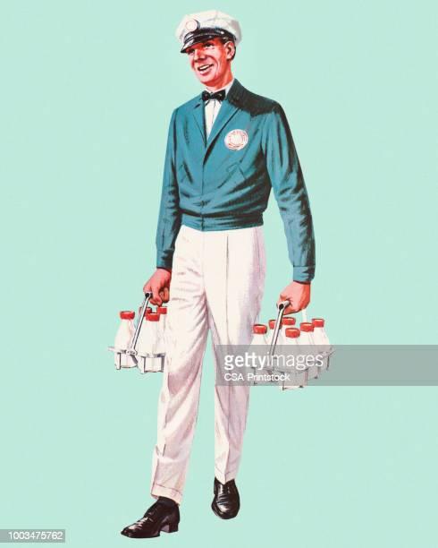 milkman - courier stock illustrations