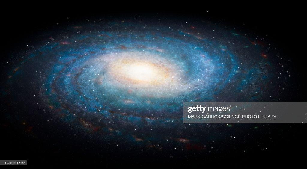 Milky Way galaxy, illustration : stock illustration