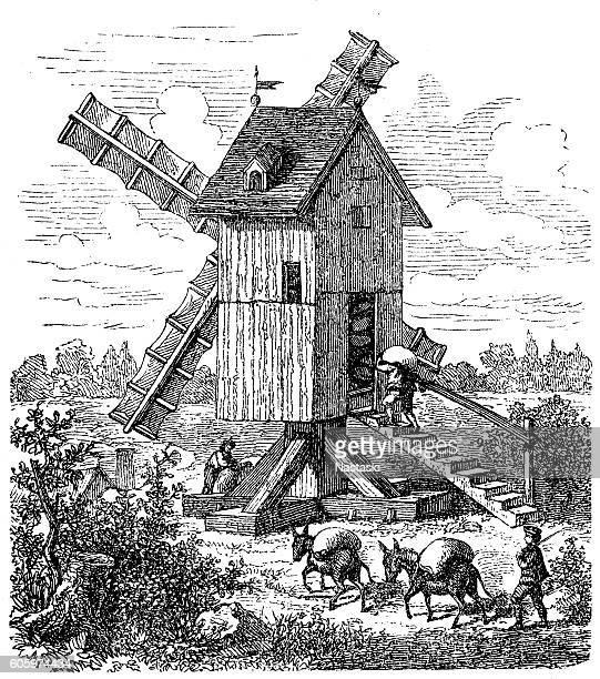 ilustraciones, imágenes clip art, dibujos animados e iconos de stock de mill - molino de viento