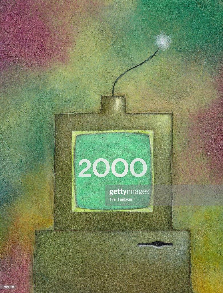 Millennial Time Bomb : Stockillustraties