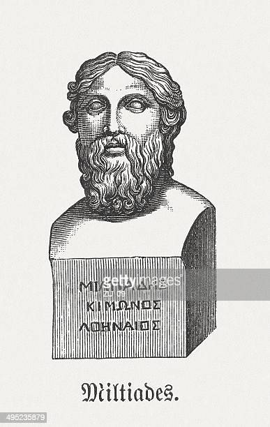 miltiades (c.550-c.489 bc), athenian military leader and politician, published 1881 - athens georgia stock illustrations, clip art, cartoons, & icons