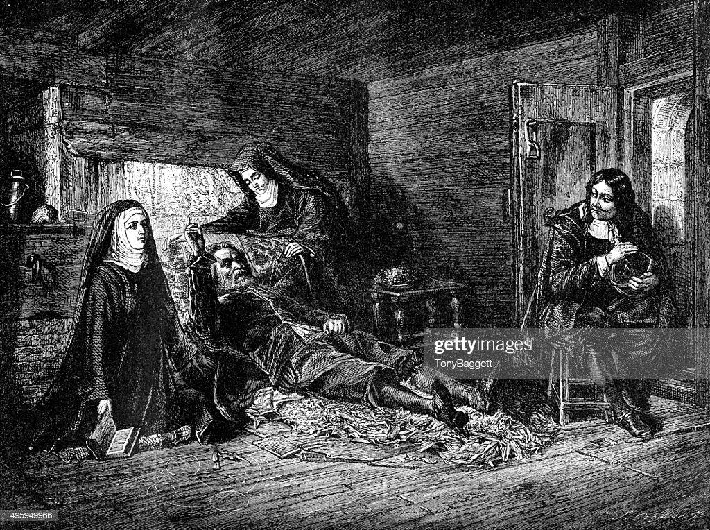 Milton Visiting Galileo in Prison : stock illustration