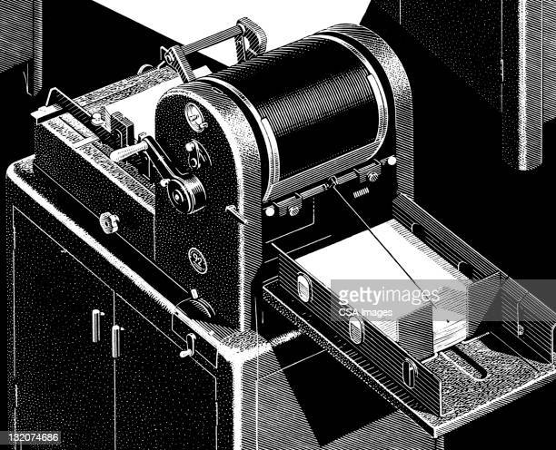 mimeograph machine - photocopier stock illustrations, clip art, cartoons, & icons