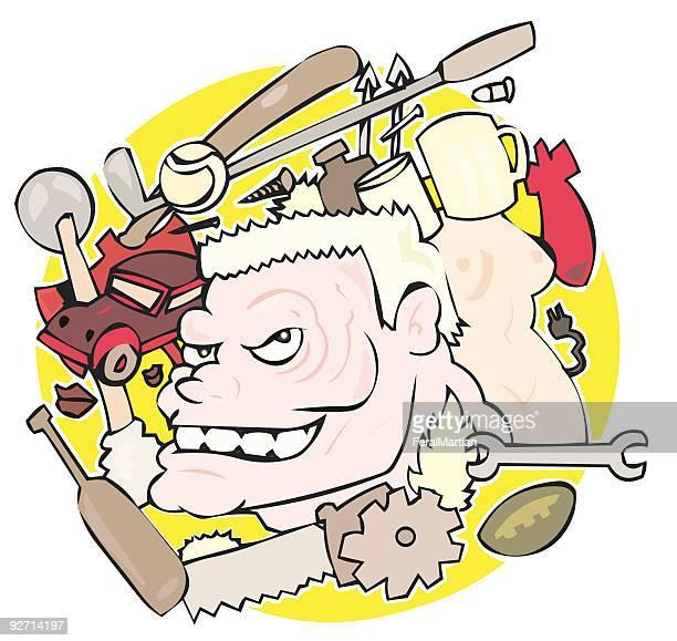 mind of a man - voyeurism stock illustrations, clip art, cartoons, & icons