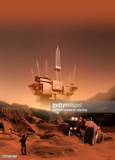 Mining on Mars, artwork