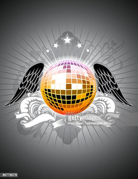 Mirror ball with wings