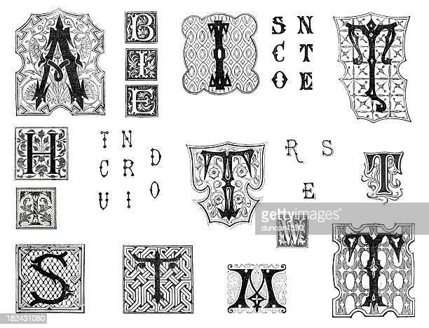 miscellaneous retro alphabet letters - {{asset.href}} 幅插畫檔、美工圖案、卡通及圖標