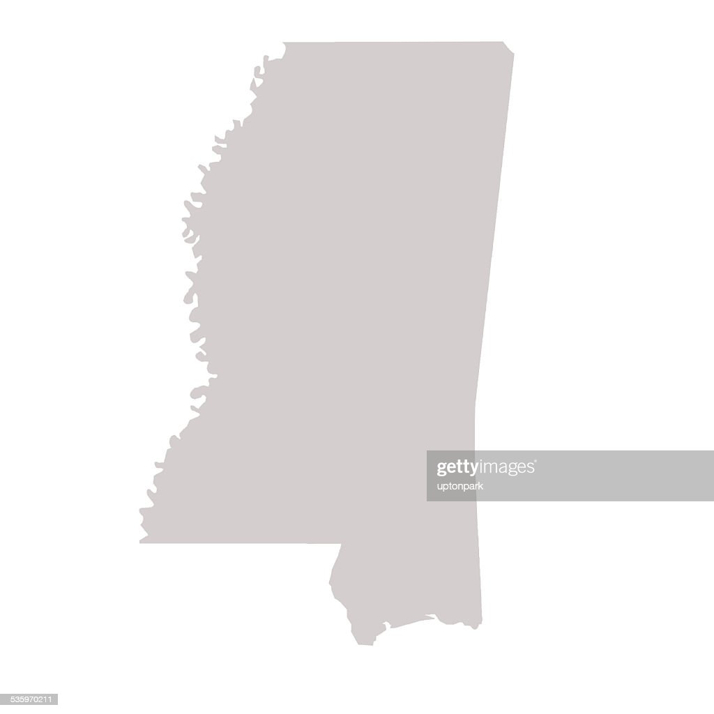 Mississippi State map : Stock Illustration