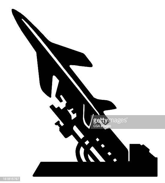 missle in launcher - military stock illustrations