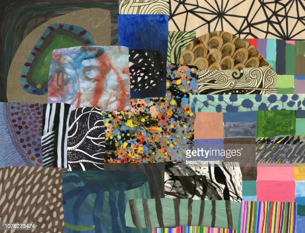 mixed media background pattern - art stock illustrations