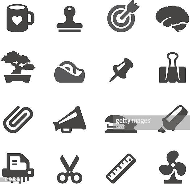 mobico icons — office tools - clip stock illustrations