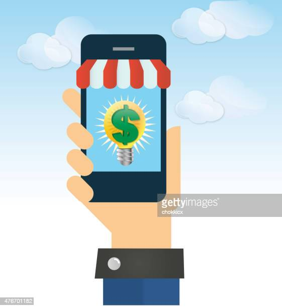 mobile money making idea or solution - {{relatedsearchurl('racing')}} stock illustrations, clip art, cartoons, & icons