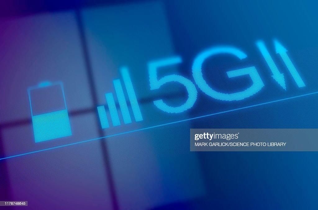 5G mobile network, illustration : Stock Illustration