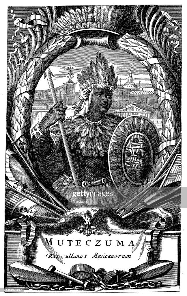Moctezuma Ii Aztekischer Herrscher Stock Illustration Getty Images
