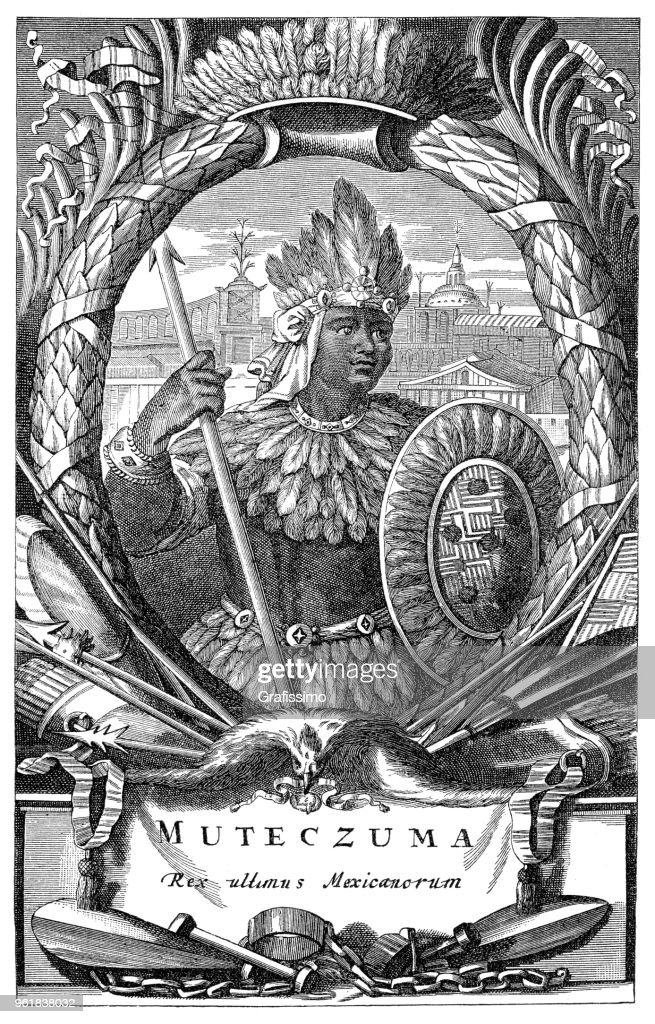 Moctezuma Or Montezuma Ii Ruler Of Tenochtitlan Aztec Emperor
