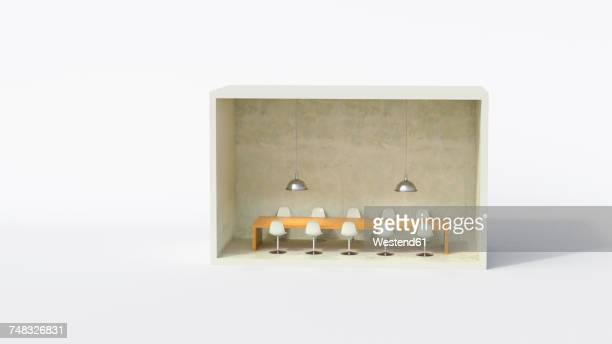 model of a conference room - conference table stock illustrations, clip art, cartoons, & icons