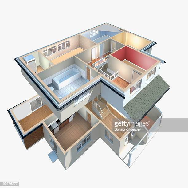 model of a house with interior exposed - model to scale stock illustrations, clip art, cartoons, & icons