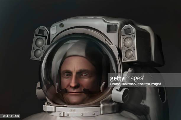 3D model of an astronaut in an EVA space suit.