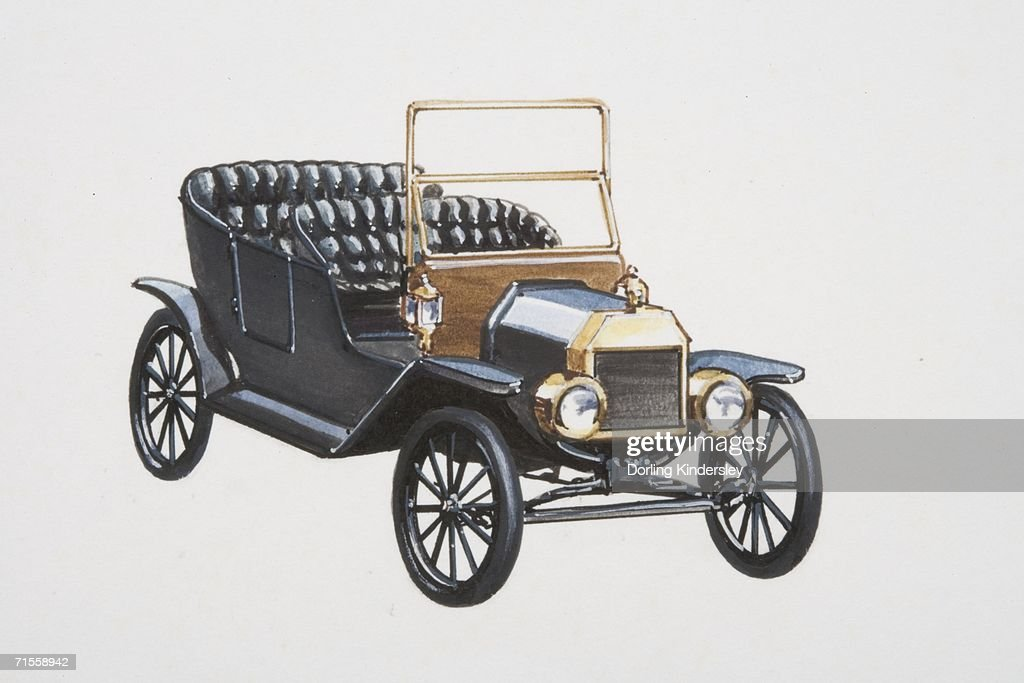 Model T Ford Car Front View Stock Illustration Getty Images