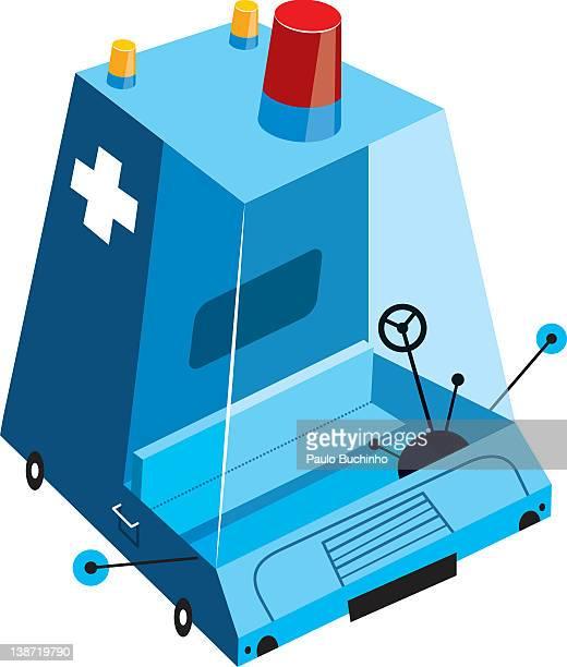 ilustrações de stock, clip art, desenhos animados e ícones de a modern ambulance - buchinho