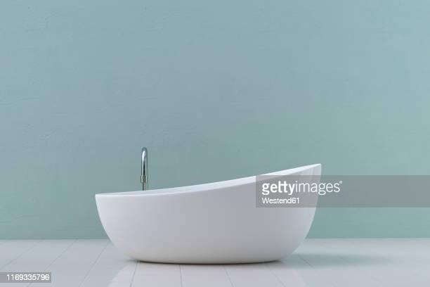 modern bathtub, 3d rendering - studio shot stock illustrations