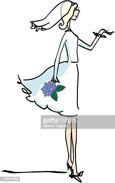 modern bride illustration