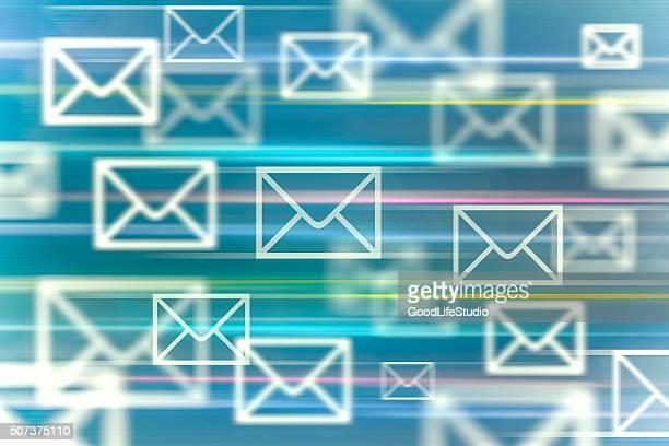 ilustrações, clipart, desenhos animados e ícones de comunicação moderna - correio correspondência