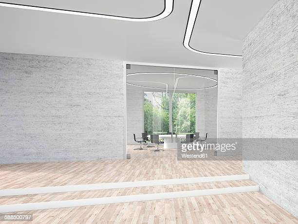 modern conference room, 3d rendering - loft apartment stock illustrations, clip art, cartoons, & icons