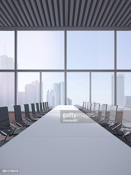 modern conference room, 3d rendering - conference table stock illustrations, clip art, cartoons, & icons