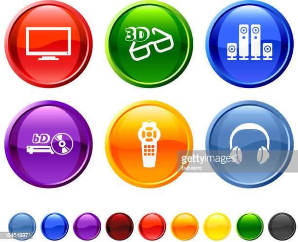 Modern consumer electronics royalty free vector icon set
