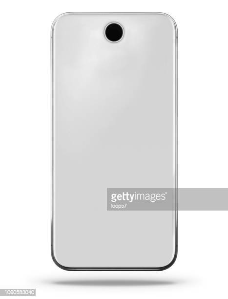 modern gray smartphone rear view - wide screen stock illustrations