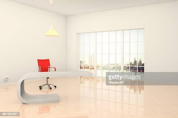 Modern office in Berlin, 3D Rendering