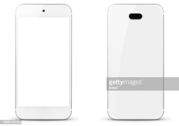 modern smartphone front and rear view - smart phone stock illustrations