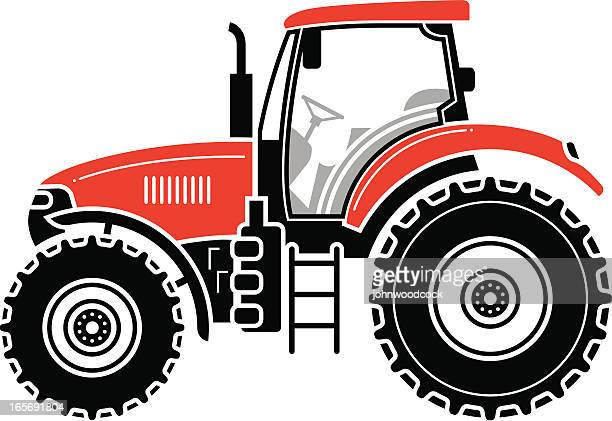 modern tractor - tractor stock illustrations