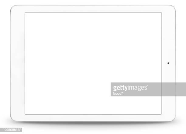 ilustraciones, imágenes clip art, dibujos animados e iconos de stock de tableta digital blanco moderno - sistema operativo