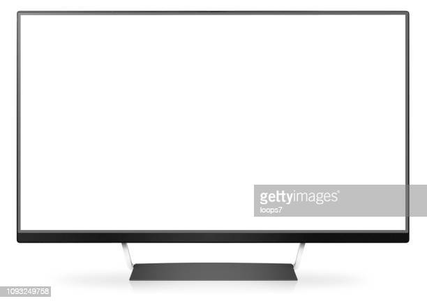 Modern Wide Screen Monitor / TV Isolated on White