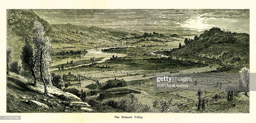 Mohawk Valley New York Historic American Illustrations High Res Vector Graphic Getty Images