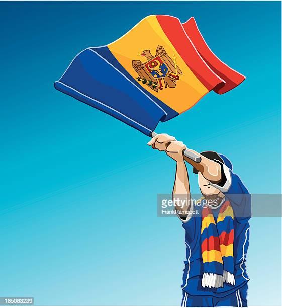 Moldova Waving Flag Soccer Fan