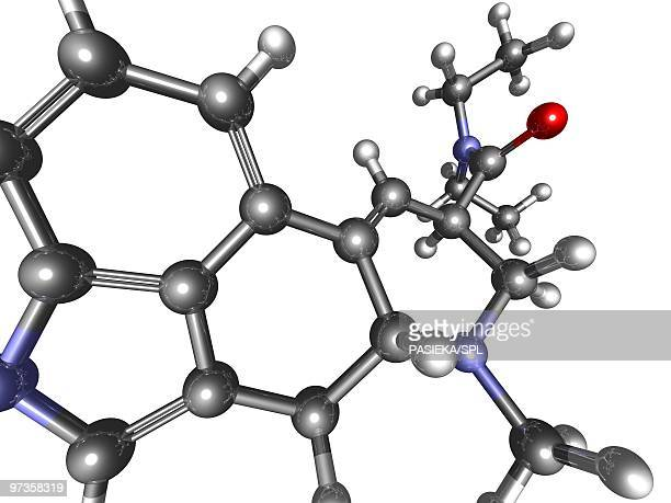 LSD molecule, artwork