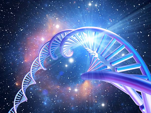 DNA Molecule, Computer Artwork Wall Art