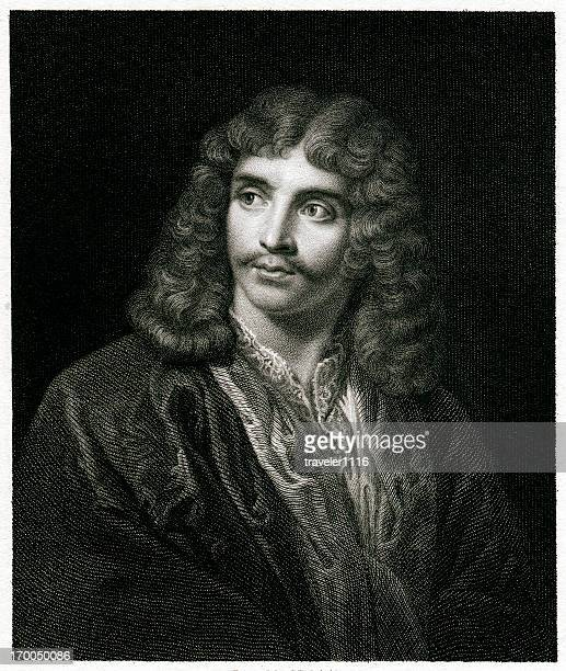 moliere - france stock illustrations